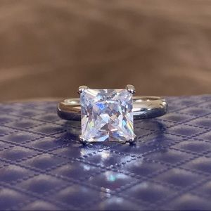 Cubic Zirconium Sterling Silver Ring